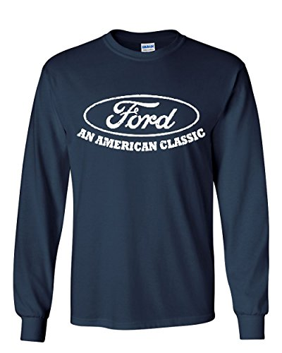 Ford An American Classic Long Sleeve T Shirt Ford Truck Licensed Navy Blue Xl