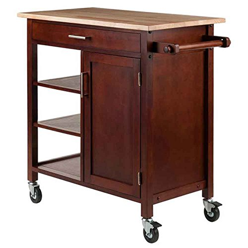 Winsome Wood 94543 Marissa Kitchen Cart Walnut