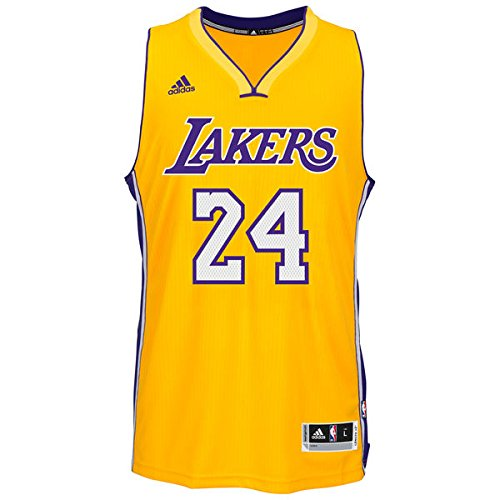 Adidas Men's Los Angeles Lakers NBA Kobe Bryant Swingman Jersey Gold Small (Stitched Swingman Jersey)