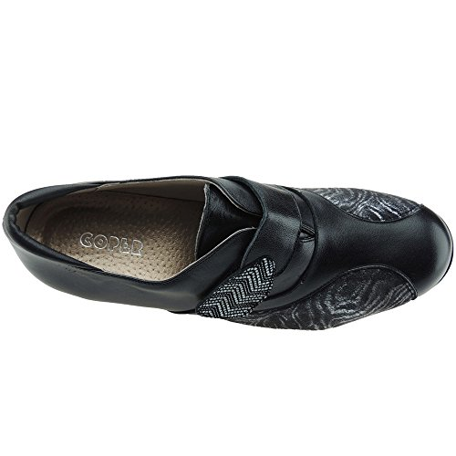 5cm Especial 106110 Cuña Mujer Negro Coper Comodón Para Y Piel 4 Velcro Ancho Licra wvRtdq4