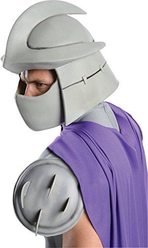 Nickelodeon Ninja Turtles Adult Shredder Overhead Latex Mask, Gray, One (Men's Shredder Costume)