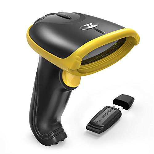 TaoTronics 2-in-1 2.4Ghz Wireless & Wired Barcode Scanner USB Bar Code Scanner with 32 Bit Processor, Portable Wireless Receiver, 700mAh Internal Battery by TaoTronics