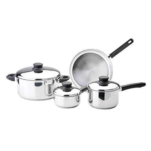 Kinetic Kitchen Basics Series  Stainless Steel Cookware Set with Lids 12000, 7-Piece