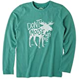 Life is Good Boys Crusher Longsleeve Tee Don't Moose with Me