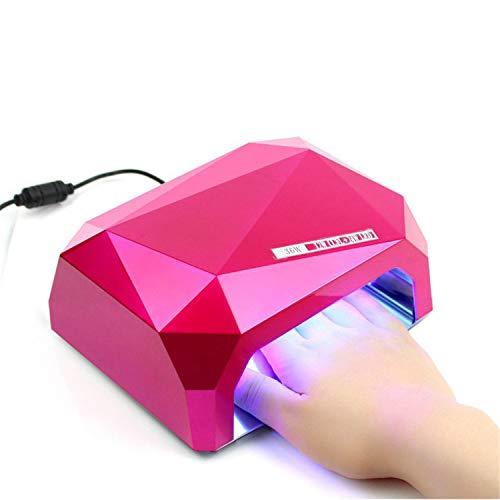 Ccfl Led - Panther 36W LED & CCFL Nail Dryer Diamond Shape Fast Curing UV LED Phototherapy Nail Lamp UV Gel Finger Nail Toes Polish Dryer Machine for Regular Nail Polish (Pink)