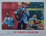 Jimmy Smith Trio 1964 Get Yourself A College Girl #4 Original 11x14 Lobby Card As Received By The Movie Theater