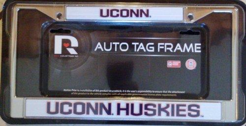 Connecticut Huskies UCONN Metal Chrome License Plate Tag Frame University of