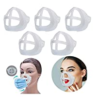 3D Mask Bracket -Protect Lipstick Lips - Internal Support Holder Frame Nose Breathing smoothly - DIY Face Mask Accessories (5 pieces)