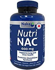 Naka Platinum Nutri NAC (N-Acetyl-L-cysteine) 600 mg per capsule - BONUS SIZE 150 Veggie Capsules (120+30 FREE)
