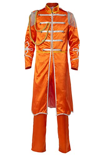 Cosplaysky The Beatles SGT. Pepper's Lonely Hearts Club George Harrison Costume Medium Orange]()