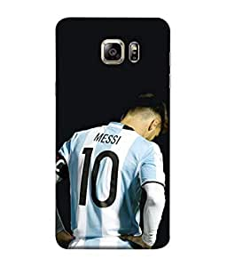 ColorKing Football Messi Argentina 14 Black shell case cover for Samsung S6