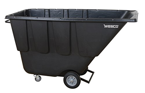 Wesco Industrial Products 272581 Tilt Cart, Utility Duty, 1 cubic yard, 72.5'' Length, 43'' Height, 29.25'' Width by Wesco