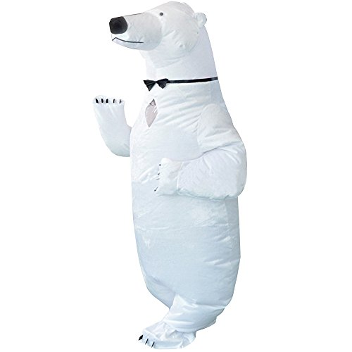 [Sidnor Funny Inflatable Blow Up White Bear Polar Bear Sea Bear Dress Up Cosplay Costume Suit] (Custom Inflatable Costumes)