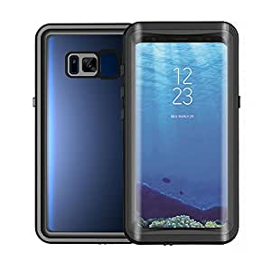 Smilenut Waterproof Galaxy S8 Case With Built-In Screen Protector Underwater Full Body Samsung Phone Shell Case – Clear Protective Samsung Case With Military Tested Shockproof And Drop Proof Design