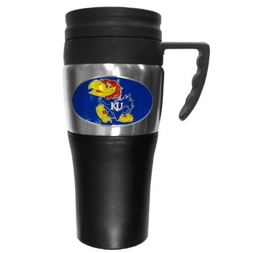College NCAA Kansas Jayhawks Steel Travel Mug with Handle