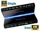 USB C Ultra 5K Universal Docking Station: Dual Display 2X HDMI + 2X
