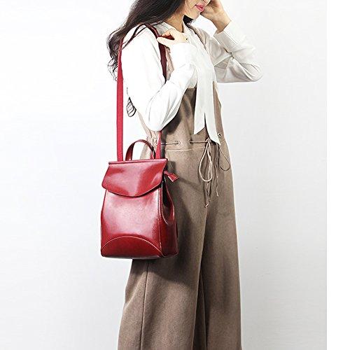 portés Sac à main 8963 dos LF fashion Sac en Bordeaux femme DISSA cuir HwRvqgzZx