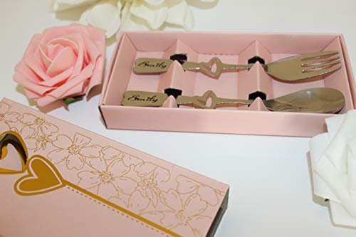 Personalized Gift, Children's Cutlery Set, Laser Engraved, Comes in Gift Box, Heart Design, Personalized Cutlery, Spoon & Fork