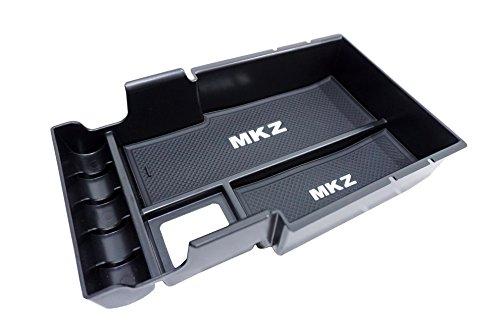 (Vesul Armrest Secondary Storage Box Glove Pallet Center Console Tray for Lincoln MKZ Sedan 2017 2018)