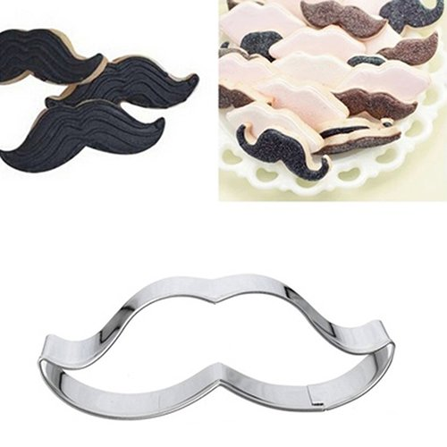 Slendima Sale! Cute Stainless Steel Mustache Cake/Biscuit/Pastry Mold Cookie Cutter