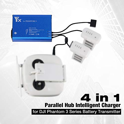 Wikiwand 4 in 1 Parallel Hub Intelligent Battery Charger for Phantom 3 RC Drone by Wikiwand (Image #1)
