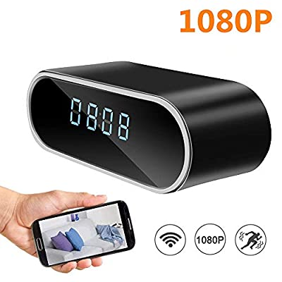 Hidden Camera, ANCOO Spy Camera in Clock WiFi Hidden Cameras 1080P Video Recorder Wireless IP Camera for Indoor Home Security Monitor Nanny Cam Night Vision Motion Detection by ANCOO