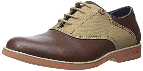 Us Polo Assn. Mens Clark Sadel Buck Oxford Linneduk / Mörkbrun