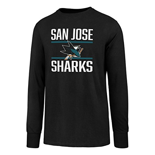 NHL San Jose Sharks Men's OTS Rival Long Sleeve Tee, Jet Black, Medium