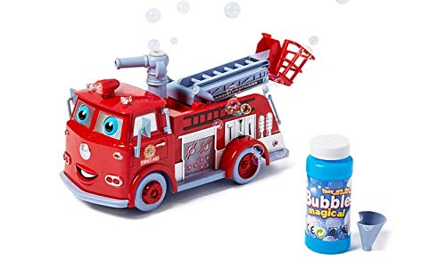 Pumper Bubble-Blowing Fire Truck by Hua Cai