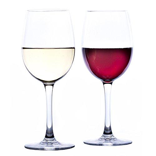 Elegant Unbreakable Wine Glasses by Savona | 100% Tritan Plastic Wine Glasses | Ideal for Indoor/Outdoor Use | Shatterproof Wine Glasses | Set of 2 ()