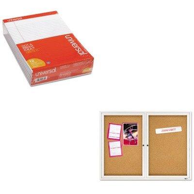 KITQRT2364UNV20630 - Value Kit - Quartet Enclosed Bulletin Board (QRT2364) and Universal Perforated Edge Writing Pad (UNV20630) by Quartet