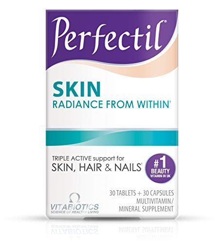 Vitabiotics Perfectil Skin Multivitamin to Support & Maintain Skin Health | Biotin, Omega 3 and Starflower Oil (Dual Pack with 30 Tablets + 30 Nutri-Dermal™ Capsules)
