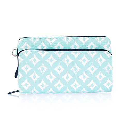 Thirty One Perfect Cents Wallet in Sparkling Squares - No Monogram - 4808 (Jewell Thirty Purse One By)