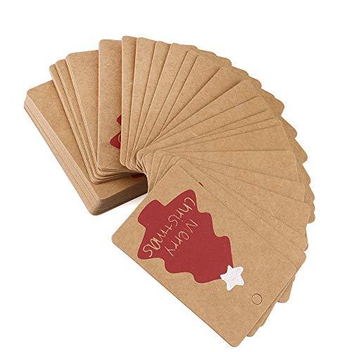 - Hot Sale!DEESEE(TM)Brown 50pcs Christmas Kraft Gift Paper Label Price Hang Tags Cards Wedding Hot