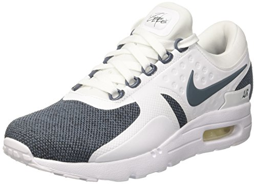 NIKE Air Max Zero SE Mens Running Trainers 918232 Sneakers Shoes (UK 8 US 9 EU 42.5, White Blue Black 100)