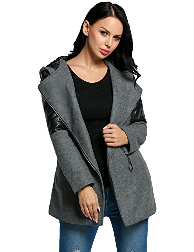 Corgy Women Wool Overcoat Long Trench Coat Outerwear Plus Size