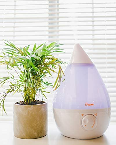 41RiLcqWAjL. AC - Crane Ultrasonic Cool Mist Humidifier, Filter-Free, 1 Gallon, For Home Bedroom Baby Nursery And Office, White