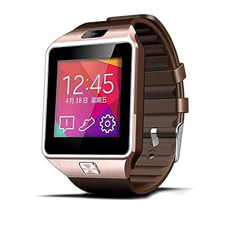 ICARUS - Smartwatch Reloj Inteligente Bluetooth, cámara con Ranura SIM, Registro de Llamadas y SMS, Compatible con Androind. Color Dorado: Amazon.es: ...