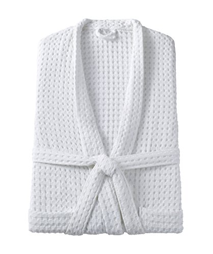 Kassatex Messina Bathrobe, L/XL, Large/X-Large, White by Kassatex
