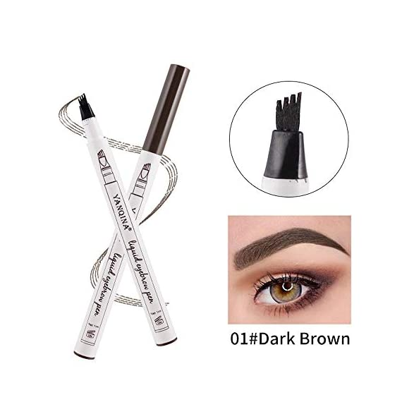 XUANOU Eyebrow Tattoo Pen Waterproof Fork Tip Sketch Makeup Pen Microblading Ink Sketch 7 ♬❃☂Comfortable handle design. Easy to use and portable. Soft and silky to touch,the brushes are dense and shaped well. Easily and beautifully crafted to blend foundation, powder, moisturizers and primers seamlessly into your skin. ♬❃☂Premium Synthetic Makeup Brushes: Made with soft and dense synthetic fibers to provide a high definition finish with liquid, powders or cream foundation without any absorption of product and no shedding. ♬❃☂Versatile Brush Set: Cover all size and shape of brushes to carve and sculpt the face for flawless dimension. Ideal for contouring, blending, shading and highlighting.