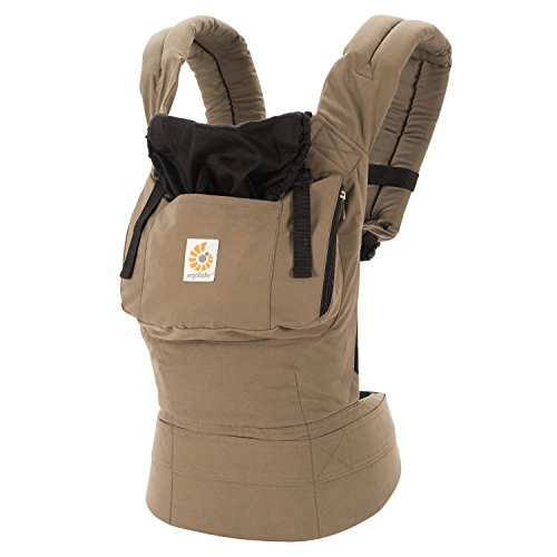 Ergobaby Original Award Winning Ergonomic Multi-Position Baby Carrier with X-Large Storage Pocket, Aussie Khaki by Ergobaby