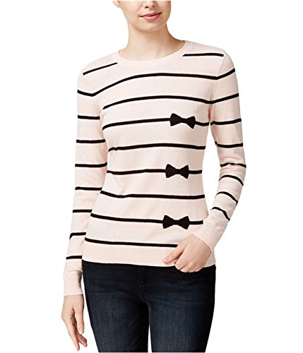 Belted Striped Sweater - Maison Jules Striped Bow-Print Sweater