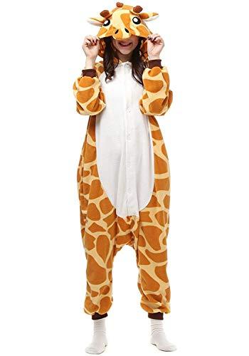 (Leavelive Cute Animal Costume Adult Onesie Pajama, Giraffe,)