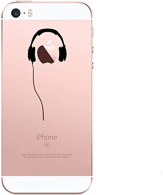 Coque Silicone IPHONE 5//5S//SE Casque Fun Apple Ecouteurs Pomme Musique Transparente Protection Gel Souple Shot Case