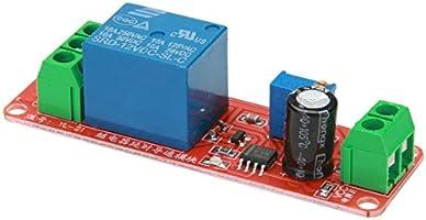 Amazingdeal365 2pcs DC 12V Delay Relay Escudo NE555 Temporizador Interruptor M/ódulo Ajustable