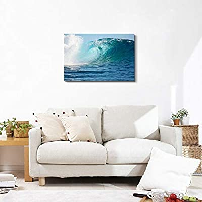A Big Wave in The Pacific Ocean - Canvas Art Wall Art - 24