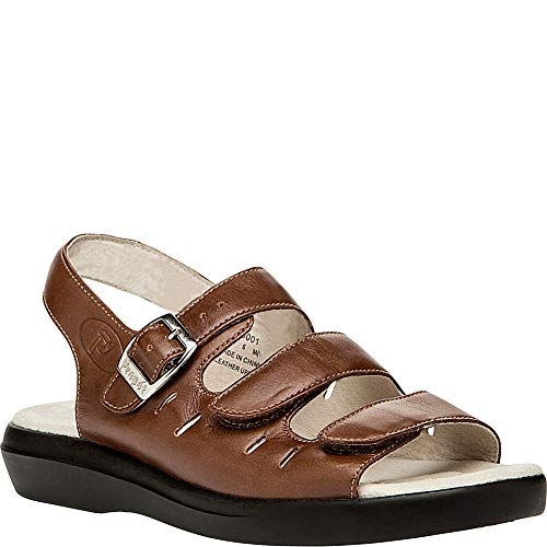 Propet Women's W0001 Breeze Walker Sandal,Teak Brown,7.5 M (US Women's 7.5 B)
