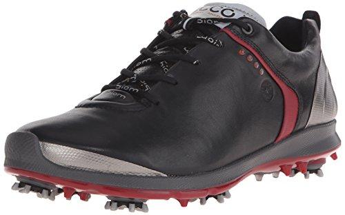ECCO Men's Biom G 2 GTX Golf Shoe, Black/Brick, 45 EU/11-11.5 M US