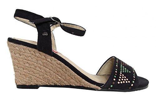 Sandalias de Mujer MTNG 55725 AFELPADO NEGRO