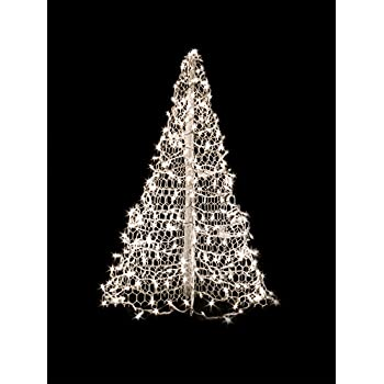 5 white wire crab pot tree with 350 mini lights clear - 5 Christmas Tree